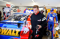 Feb. 27, 2009; Las Vegas, NV, USA; NASCAR Sprint Cup Series crew chief Drew Blickensderfer during practice for the Shelby 427 at Las Vegas Motor Speedway. Mandatory Credit: Mark J. Rebilas-