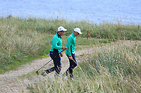 Charlie Denvir and Max Kennedy of Ireland during Day 3 of the Boys' Home Internationals played at Royal Dornoch Golf Club, Dornoch, Sutherland, Scotland. 09/08/2018<br /> Picture: Golffile | Phil Inglis<br /> <br /> All photo usage must carry mandatory copyright credit (&copy; Golffile | Phil Inglis)