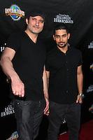 LOS ANGELES - SEP 18:  Robert Rodriguez, Wilmer Valderrama at the Universal Studio's Halloween Horror Nights 2014 Eyegore Award at Universal Studios on September 18, 2014 in Los Angeles, CA