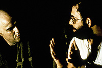 Apocalypse Now (1979) <br /> Behind the scenes photo of Marlon Brando &amp; Francis Ford Coppola<br /> *Filmstill - Editorial Use Only*<br /> CAP/KFS<br /> Image supplied by Capital Pictures