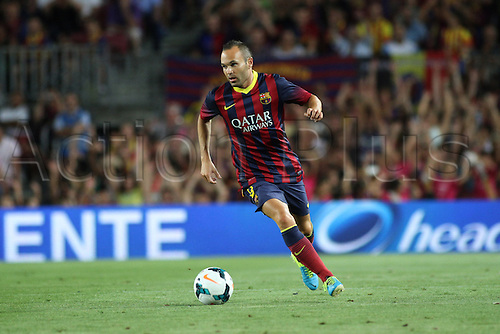 02.08.2013 Barcelona, Friendly football competition Joan Gamper Trophee.  Iniesta in action during the friendly match in the nou Camp