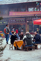 May 1st, 2011_Shangri-La, Yunnan, China_ Views of the old-town section of Zhongdian (or Shangri-La) in northern Yunnan province, China. Zhongdian is a popular destination for tourists in Yunnan Province.  Photographer: Daniel J. Groshong/The Hummingfish Foundation