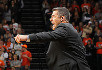 Virginia head coach Tony Bennett reacts to a call during the first half of an NCAA basketball game against Wake Forest Wednesday Jan. 08, 2014 in Charlottesville, VA. (Photo/The Daily Progress/Andrew Shurtleff)