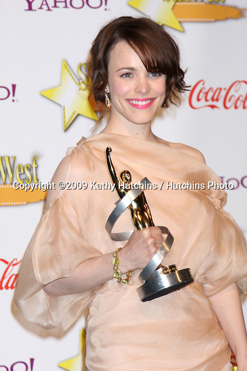 Rachel McAdams in the Press Room of the ShoWest Awards Gala at the Paris Hotel & Casino in Las Vegas, NV on April 2, 2009.©2009 Kathy Hutchins / Hutchins Photo....                .