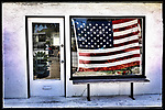 American Flag in window, this photo was taken on one of my photo walk about's in Venice Beach California on April 30, 2017.<br /> &copy;Fitzroy Barrett