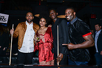 NEW YORK CITY - MARCH 15: Jeremie Harris, Zazie Beetz, Damson Idris and Amin Joseph attend FX Networks 2018 Annual All-Star Bowling Party at Lucky Strike Manhattan on March 15, 2018 in New York City. (Photo by Anthony Behar/FX/PictureGroup)