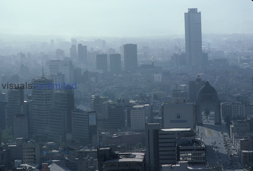 Air pollution in Mexico City, Mexico.