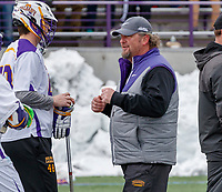 University at Albany Men's Lacrosse defeats Cornell 11-9 on Mar 4 at Casey Stadium.  UAlbany coach Scott Marr.