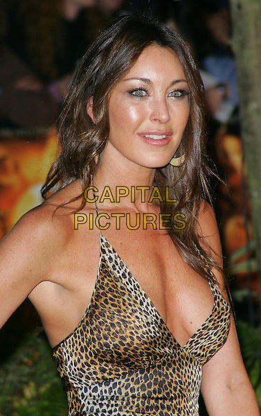 "TAMARA MELLON.""Stardust"" European film premiere, Odeon, Leicester Square, London, England. .October 3rd, 2007.half length leopard print low cut neckline cleavage .CAP/ROS.©Steve Ross/Capital Pictures"