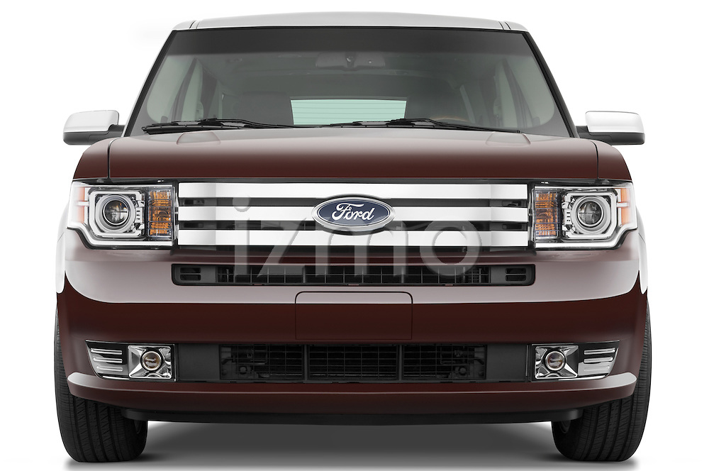 Straight front view of a 2009 Ford Flex