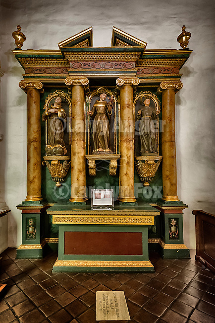 Altar of St. Anthony, Mission San Francisco de Asís (Mission Dolores), sixth mission founded in California by Fr. Junipero Serra June 29, 1776. The mission survived the 1906 earthquake though the original adobe church did not.