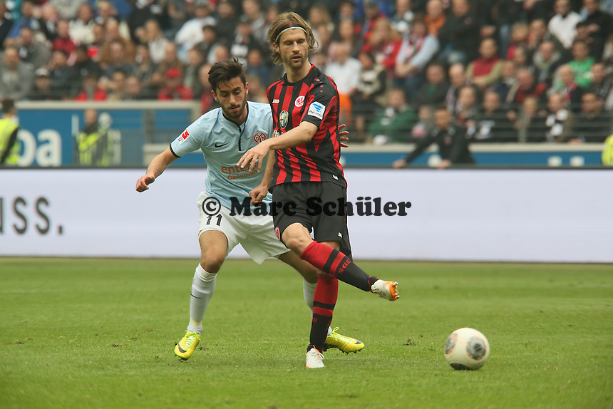 Martin Lanig (Eintracht) gegen Yunus Malli (Mainz) - Eintracht Frankfurt vs. 1. FSV Mainz 05