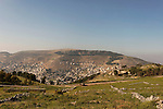 Samaria, a view of Mount Ebal and Nablus as seen from Mount Gerizim