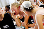 An upset Sara Aceves, 8, of Sacramento is comforted when she isn't called back during auditions for the Sacramento Ballet's Nutcracker production on Sunday, September 10, 2006. Aceves later got a part. (Photo by Max Whittaker)
