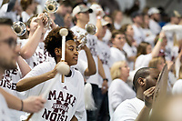 Women's Basketball vs. South Carolina: MSU WBK win in front of a record white-out crowd at Humphrey Coliseum.<br />  (photo by Megan Bean / &copy; Mississippi State University)