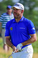 Lee Westwood (GBR) watches his tee shot on 12 during Thursday's round 1 of the 117th U.S. Open, at Erin Hills, Erin, Wisconsin. 6/15/2017.<br /> Picture: Golffile | Ken Murray<br /> <br /> <br /> All photo usage must carry mandatory copyright credit (&copy; Golffile | Ken Murray)
