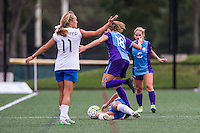 Allston, MA - Sunday July 31, 2016: Maddy Evans, Brooke Elby during a regular season National Women's Soccer League (NWSL) match between the Boston Breakers and the Orlando Pride at Jordan Field.