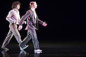 LONDON, ENGLAND - Rambert Dance Company performing Awakenings at Sadler's Wells, Robin Gladwin and Thomasin Gülgec dancing