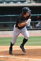 Delmarva Shorebirds infielder Mike Flacco #39 at bat during a game against the Charleston Riverdogs at Joseph P. Riley Ballpark in Charleston, South Carolina on July 10, 2011. Charleston defeated Delmarva 2-0.  Robert Gurganus/Four Seam Images