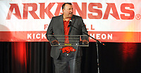 NWA Democrat-Gazette/ANDY SHUPE<br /> Bret Bielema, Arkansas coach, speaks Friday, Aug. 18, 2017, during the Kickoff Luncheon at the Northwest Arkansas Convention Center in Springdale. Visit nwadg.com/photos to see more photographs from the luncheon.