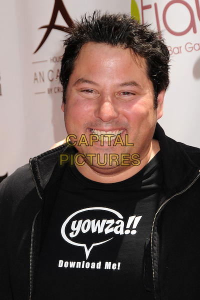 GREG GRUNBERG.Teri Hatcher's Red Carpet Yard Sale benefiting St. Jude Children's Research Hospital and Rockstar Education held at Tiato Garden, Santa Monica, California, USA..May 1st, 2011.headshot portrait black smiling yowza download me.CAP/ADM/MJT.© MJT/AdMedia/Capital Pictures.