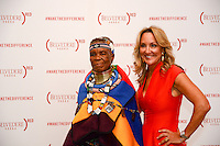 Esther Mahlangu and Cathy Steen attends Belvedere (RED) Cocktail Reception at Ace Gallery on August 24, 2016 (Photo by John K. Photography/Guest of a Guest)