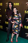 "Mario Vaquerizo and Alaska attends the premiere of the film ""El bar"" at Callao Cinema in Madrid, Spain. March 22, 2017. (ALTERPHOTOS / Rodrigo Jimenez)"
