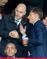 Crystal Palace Chairman Steve Parish (right) during the Premier League match between Crystal Palace and Manchester City at Selhurst Park, London, England on 31 December 2017. Photo by Andy Rowland.
