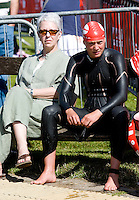 26 JUL 2008 - TREDEGAR, UK - Kerry Lang waits for the start of the start of her race - British Elite Triathlon Championships. (PHOTO (C) NIGEL FARROW)