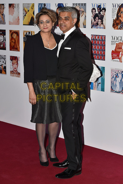 Saadiya Khan and Sadiq Khan, Mayor of London at the Vogue100 anniversary gala dinner, British Vogue's centenary anniversary party, The East Albert Lawn in Kensington Gardens, Hyde Park, London, England, UK, on Monday 23 May 2016.<br /> CAP/PL<br /> &copy;PL/Capital Pictures