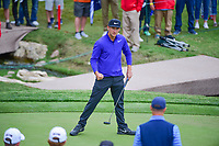 Kevin Chappell (USA) after sinking his par putt on 18 during round 3 of the Valero Texas Open, AT&amp;T Oaks Course, TPC San Antonio, San Antonio, Texas, USA. 4/22/2017.<br /> Picture: Golffile | Ken Murray<br /> <br /> <br /> All photo usage must carry mandatory copyright credit (&copy; Golffile | Ken Murray)