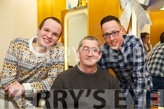 Paul Horan (Jnr) pictured with his father Paul Horan and friend Justin Duggan who took part in the shave for Movember.