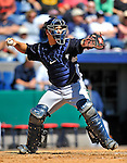 12 March 2011: New York Yankees' catcher Russell Martin in action during a Spring Training game against the Washington Nationals at Space Coast Stadium in Viera, Florida. The Nationals edged out the Yankees 6-5 in Grapefruit League action. Mandatory Credit: Ed Wolfstein Photo