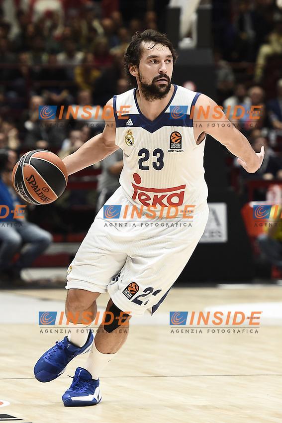 Milano 27/10/2016 - basket Eurolega / EA7 Milano - Real Madrid / foto Daniele Buffa/Image Sport/Insidefoto<br /> nella foto: Sergio Llull