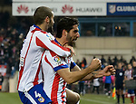 Atletico de Madrid´s spanish foward Raul Garcia celebrates a goal during the king´s cup football match with Atletico de Madrid vs Real Madrid at the Vicente Calderon stadium in Madrid on Jaunary 7, 2015. DP by Photocall3000.