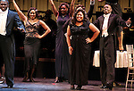 Josh Henry, Amber Riley (GLEE) & Company during the Curtain Call for Encores! 'Cotton Club Parade' at City Center in New York City on 11/17/2012