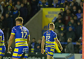 2nd February 2019, Halliwell Jones Stadium, Warrington, England; Betfred Super League rugby, Warrington Wolves versus Leeds Rhinos; Jack Hughes walks to the sideline