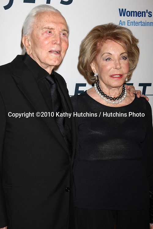 "Krik & Anne Douglas.arriving at ""An Unforgetable Evening"" benefiting EIF's Women's Cancer Research Fund 2010.Beverly Wilshire Hotel.Beverly Hills, CA.January 27, 2010.©2010 Kathy Hutchins / Hutchins Photo...."