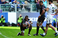 Semesa Rokoduguni of Bath Rugby looks on after scoring his second try. European Rugby Challenge Cup Quarter Final, between Bath Rugby and CA Brive on April 1, 2017 at the Recreation Ground in Bath, England. Photo by: Patrick Khachfe / Onside Images