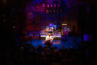 James &quot;Blood&quot; Ulmer performs at the 8th annual Ponderosa Stomp, held at the House of Blues in New Orleans on April 28, 2009.<br /> <br /> James &quot;Blood&quot; Ulmer is a noted American blues and jazz guitar player and singer with strong roots in the jazz world where he played with Art Blakey's Jazz Messengers and (most notably and extensively) with Ornette Coleman in the 1970s.  With this impressive jazz base, Ulmer proceeded to head several of his own groups in the 1980s and 90s creating a very unique sound.  He has recently recorded several blues albums to great acclaim.    <br /> <br /> The Ponderosa Stomp is an annual music festival held in New Orleans since 2002 that celebrates the uncelebrated names in American musical history.  The festival spotlights musicians who have contributed to the American roots musical canon in various genres, from rockabilly to soul to rock and roll to jazz to experimental.  For two nights of the year these mostly forgotten names perform to an audience of aficionados whose memory has not faded and turn back the clock with blistering performances of the hits that did or (in the case of the regional musicians that plugged away unknown to the world at large, as well as those whose songs were recorded to acclaim by other musicians) did not make them famous.  <br /> <br /> In addition to the two nights of performances the Ponderosa Stomp Foundation (the non-profit founded by the eccentric Dr. Ira Padnos and his coterie of like minded music fanatics the Mystic Knights of the Mau Mau) also produces two days of the Music History Conference, where many of the performers, as well as other music industry names, share stories of their lives in the business.  The Conferences take place in the Louisiana State Museum at the Cabildo in Jackson Square.