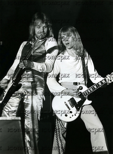 STYX - James Young and Tommy Shaw - performing live at the Congresgebouw in the Hague Netherlands - 23 May 1978. Photo credit: MM-Media Archive/IconicPix