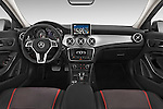 Stock photo of straight dashboard view of a 2015 Mercedes Benz GLA-KLASSE AMG 5 Door SUV Dashboard