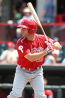 Reading Phillies outfielder Stephen Susdorf #25 at bat during a game against the Erie Seawolves at Jerry Uht Park on May 29, 2011 in Erie, Pennsylvania.  Erie defeated Reading 6-5 in ten innings.  Photo By Mike Janes/Four Seam Images