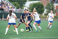 Allston, MA - Sunday July 17, 2016: Tasha Kai, Catherine Zimmerman, Kassey Kallman during a regular season National Women's Soccer League (NWSL) match between the Boston Breakers and Sky Blue FC at Jordan Field.