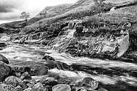 Waterfall, Rive Etive, Glen Coe, Scotland