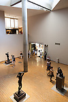 Visitors look at sculptures at the National Museum of Western Art in Ueno Park on July 18, 2016, Tokyo, Japan. The UNESCO World Heritage Committee decided to add Japan's National Museum of Western Art designed by the Swiss-French architect Le Corbusier to the World Heritage list during a meeting in Istanbul on Sunday. The museum which was completed in 1959 is the only Japanese structure designed by the world renowned architect. (Photo by Rodrigo Reyes Marin/AFLO)