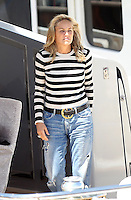 Sharon Stone aboard Roberto Cavalli's yacht during the 66th Cannes Film Festival - Cannes