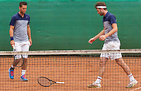 August 17, 2014, Netherlands, Raalte, TV Ramele, Tennis, National Championships, NRTK, Mens Doubles Final : Stijn de Gier/Jesse Timmermans (NED)<br /> Photo: Tennisimages/Henk Koster