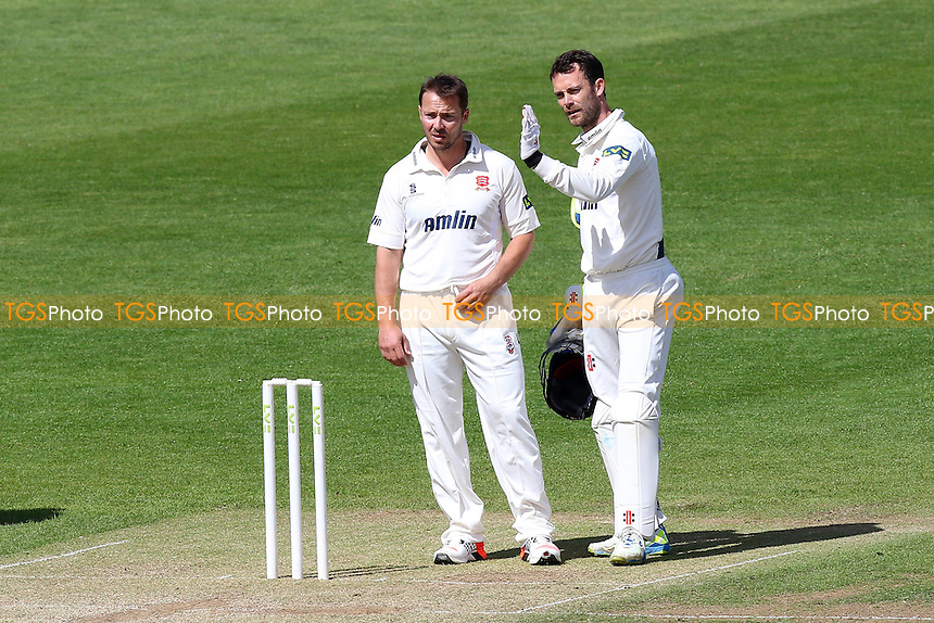 James Foster (R) and Graham Napier of Essex talk tactics - Glamorgan CCC vs Essex CCC - LV County Championship Division Two Cricket at the SWALEC Stadium, Sophia Gardens, Cardiff, Wales - 20/05/15 - MANDATORY CREDIT: TGSPHOTO - Self billing applies where appropriate - contact@tgsphoto.co.uk - NO UNPAID USE