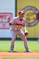 Tennessee Smokies second baseman Stephen Bruno (11) during a game against the Birmingham Barons on April 21, 2014 at Regions Field in Birmingham, Alabama.  Tennessee defeated Birmingham 10-5.  (Mike Janes/Four Seam Images)